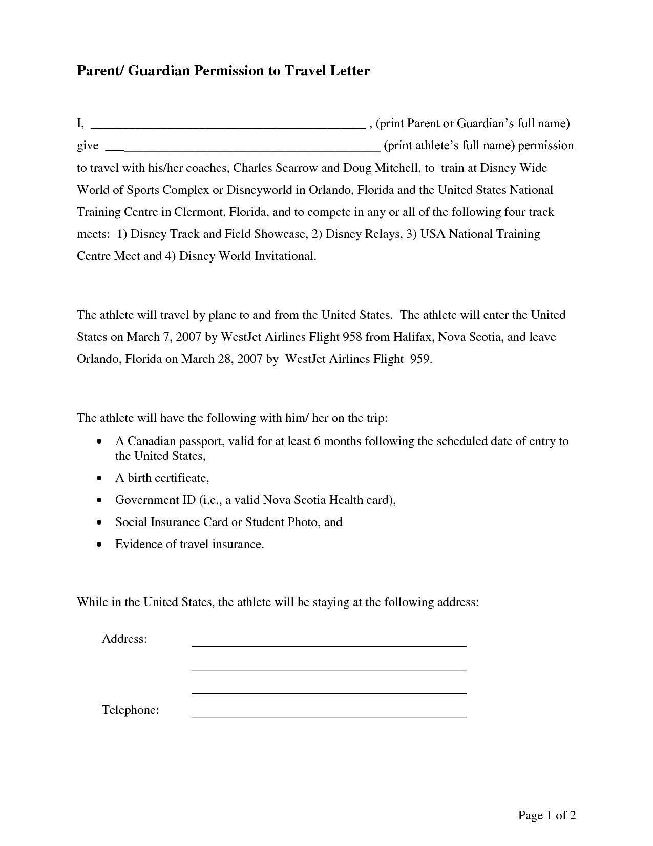 Parent Permission Letter Template - Leave Application for Sisters Marriage Sample Permission Letter