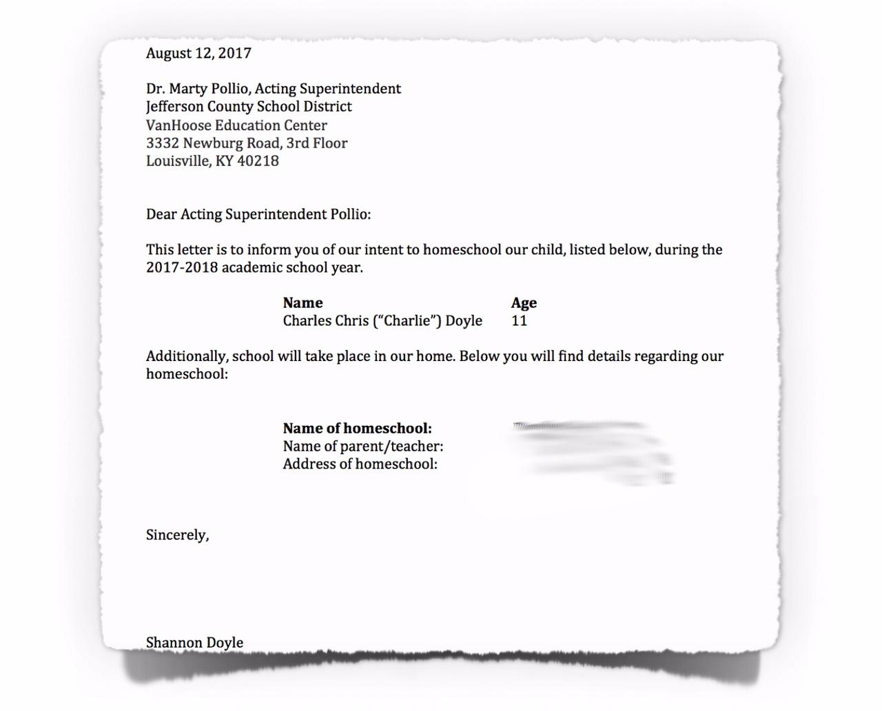 Actor Letter Of Intent Template - Letter assurance and Intent to Homeschool Texas Nyc Florida