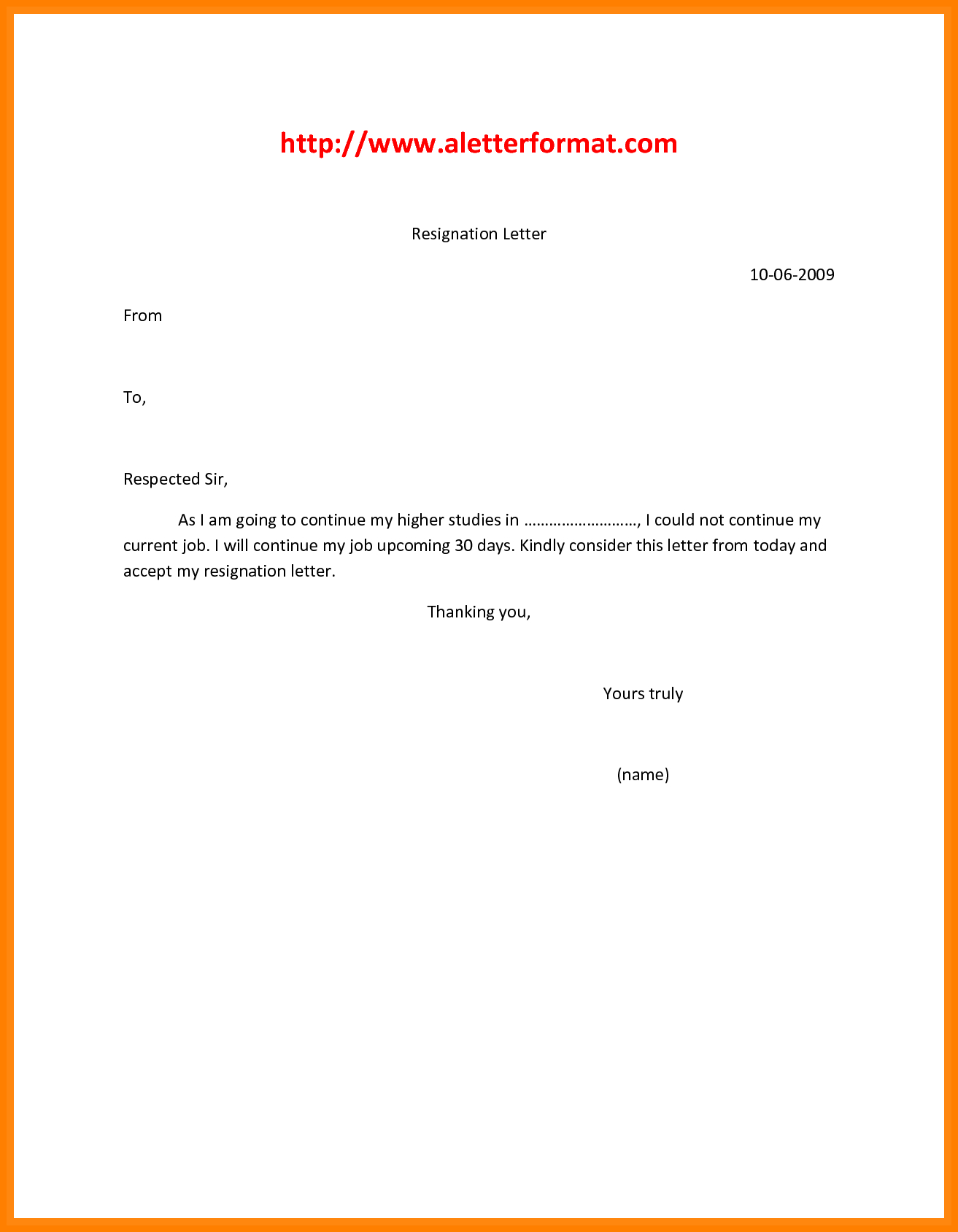 Resignation Letter Template Free Download - Letter for Resignation Pdf Job format Resign Template Free Download