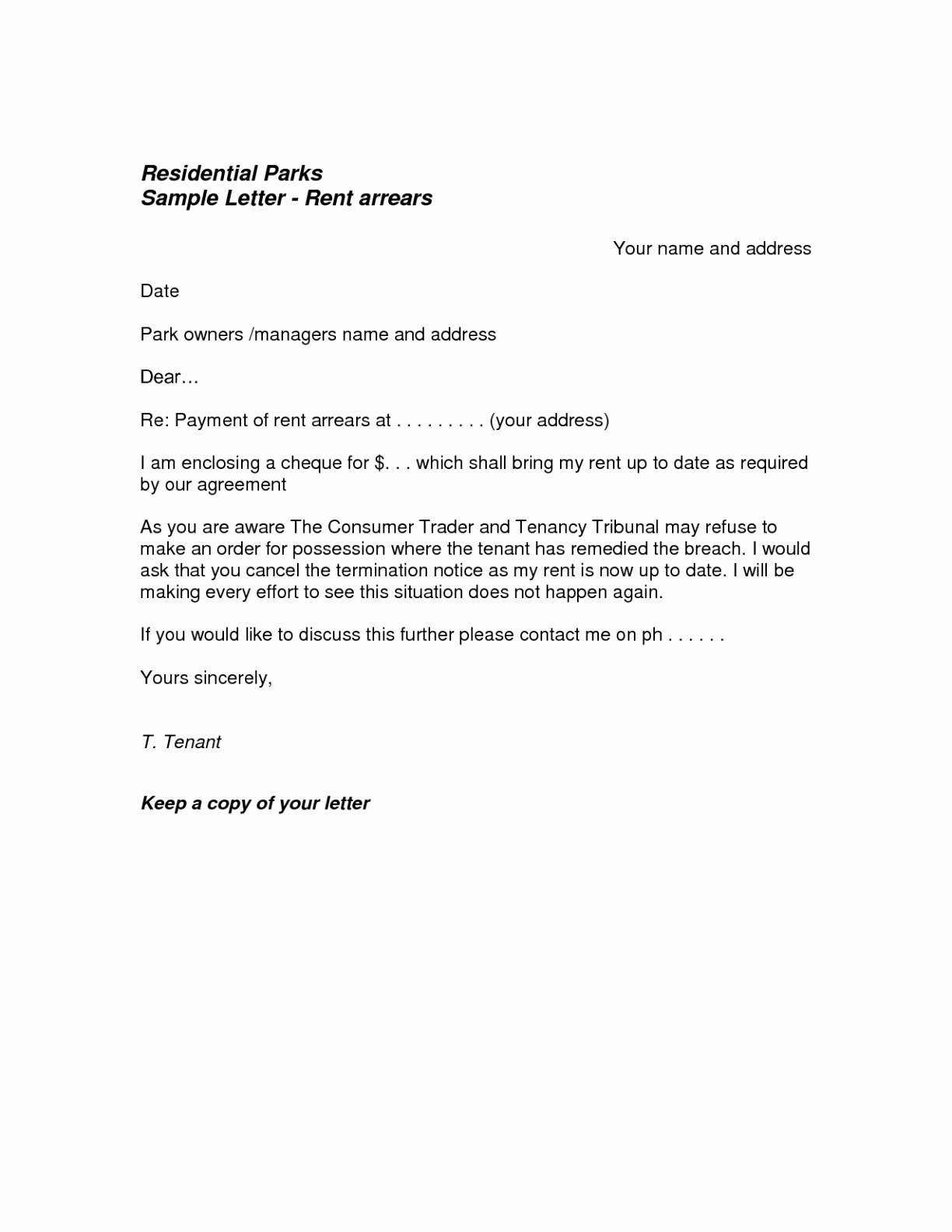 Lease Termination Letter Template - Letter format for Agreement Termination Refrence Contract