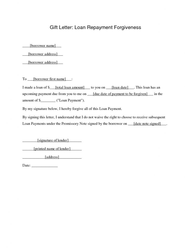 letter asking for forgiveness student loan forgiveness letter template samples letter 17541 | letter format for loan request from employer new real estate of student loan forgiveness letter template