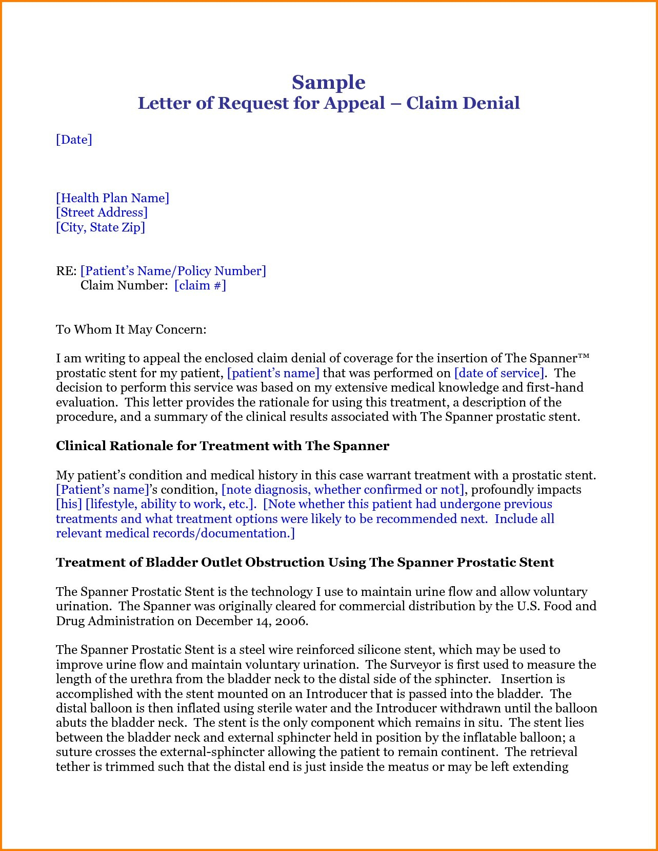 medical claim appeal letter template letter format for medical insurance claim fresh letter format for