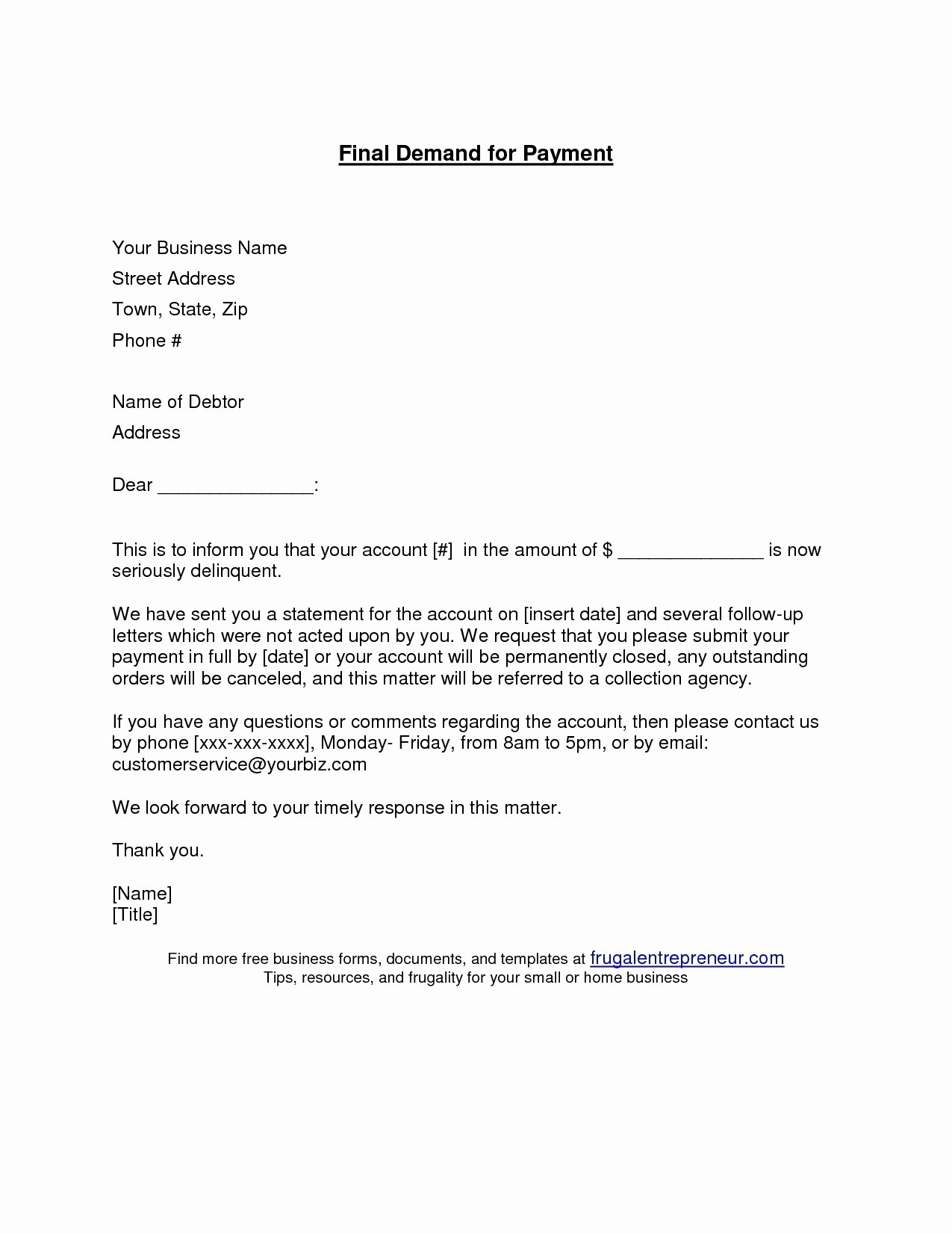 Demand for Payment Letter Template - Letter format for Payment Follow Up Inspirationa Sample Payment