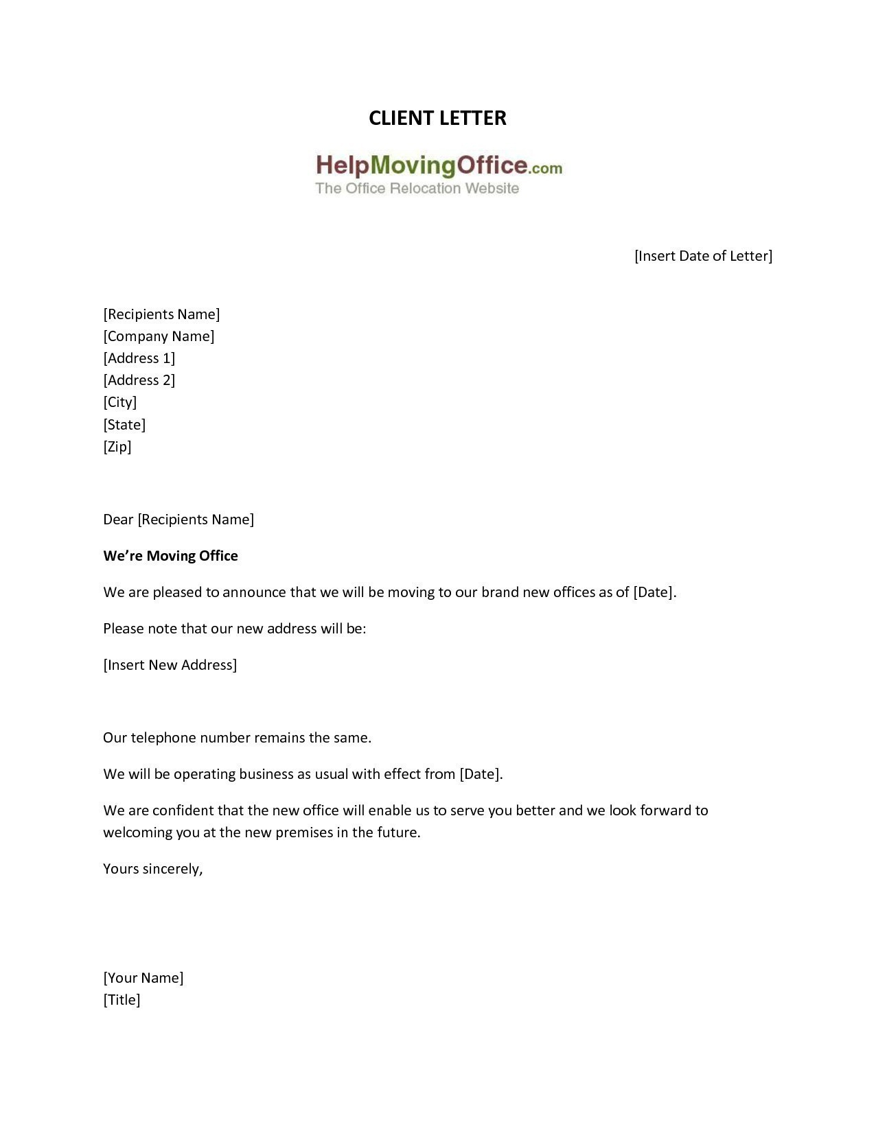 change of address letter template letter format to bank for change in name new letter