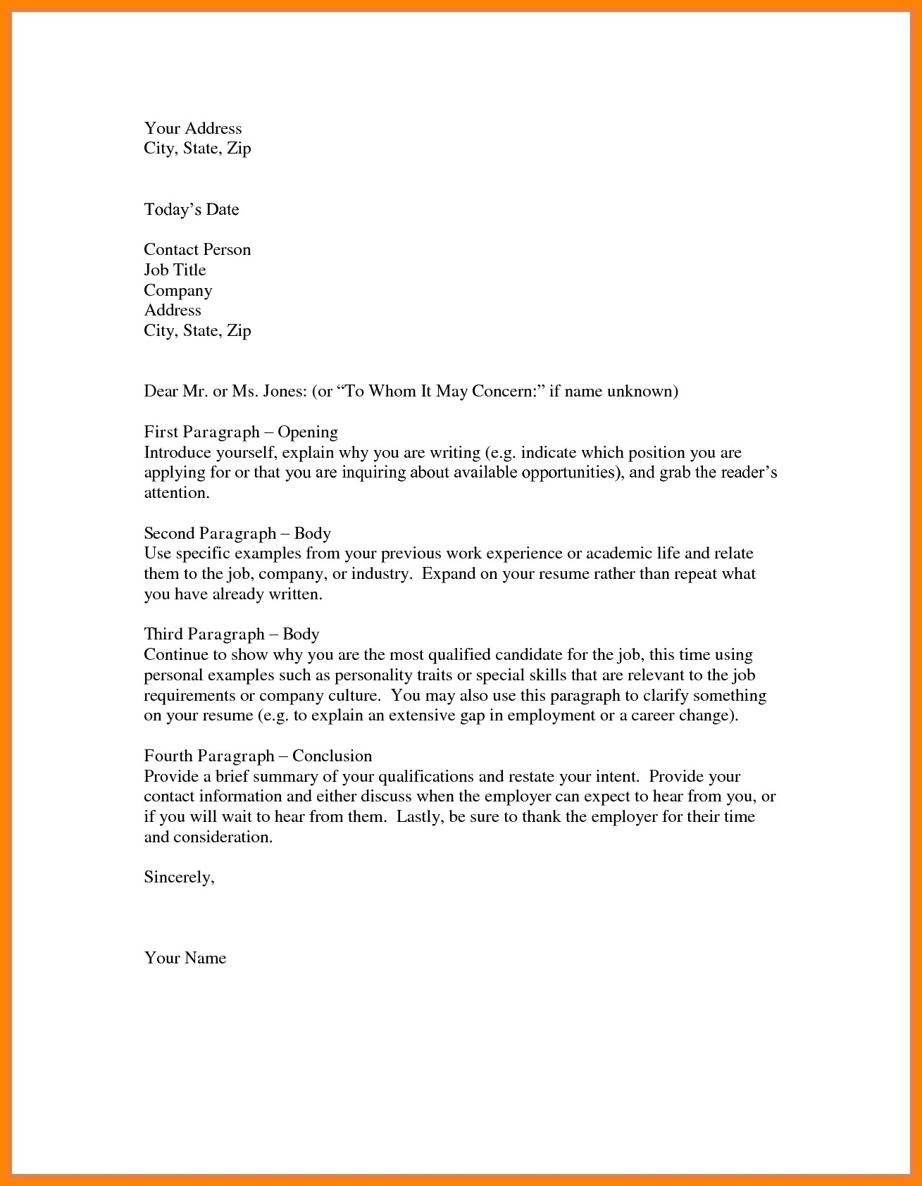 Free Letter Of Intent for A Job Template - Letter Intent Job Template New Letter Intent for Employment