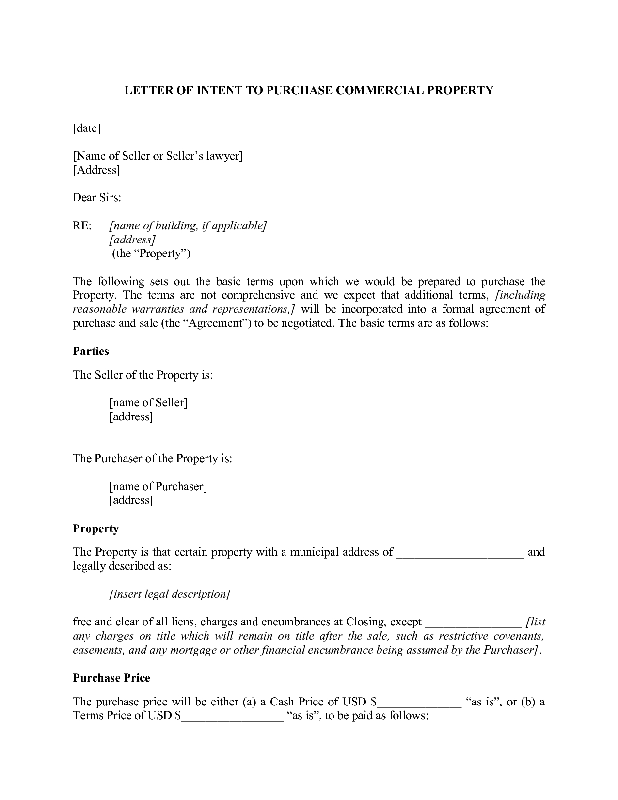Letter Of Intent to Lease Commercial Property Template - Letter Intent Real  Estate Lease Hd to