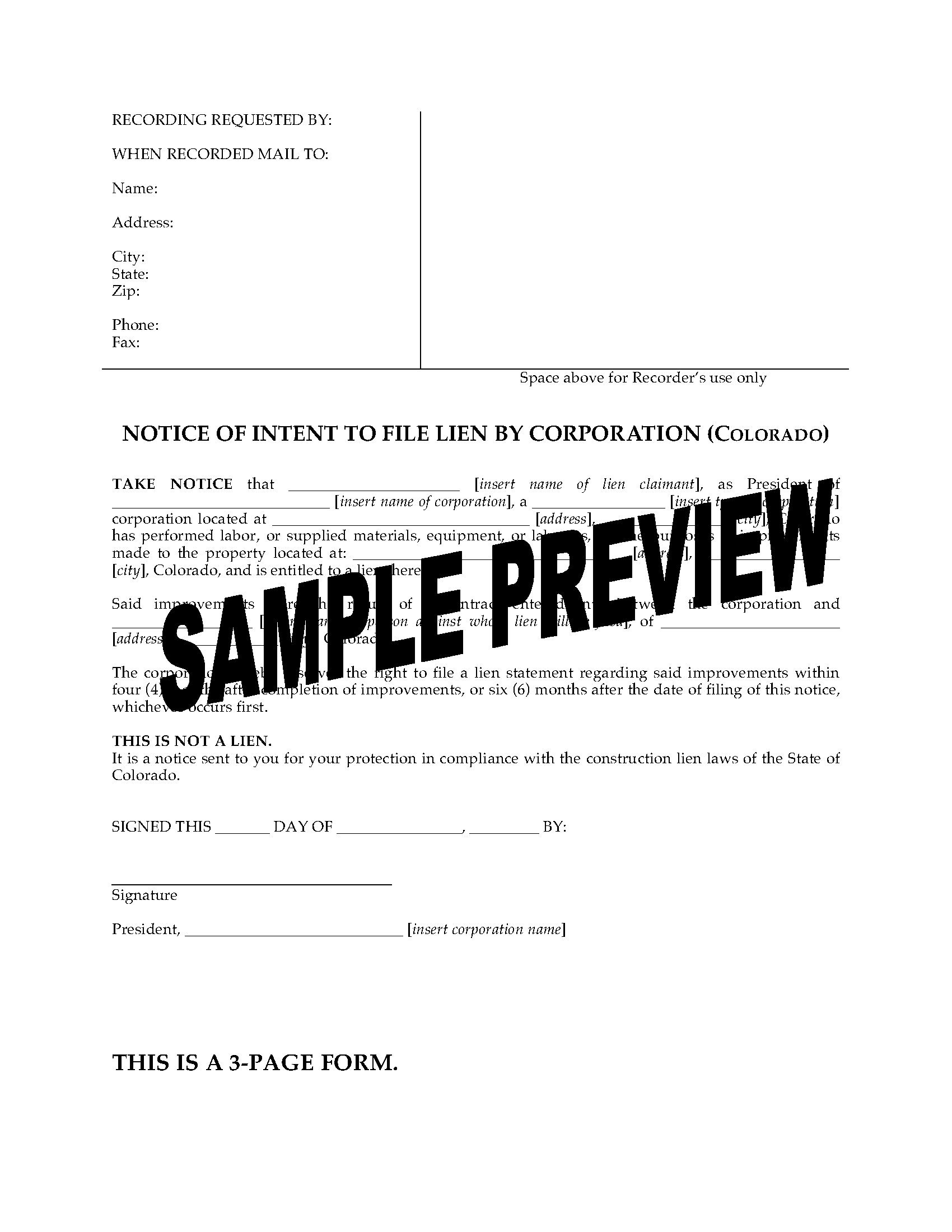 Letter Of Intent to File A Lien Template - Letter Intent to File Lien Inspirations Template Sample A