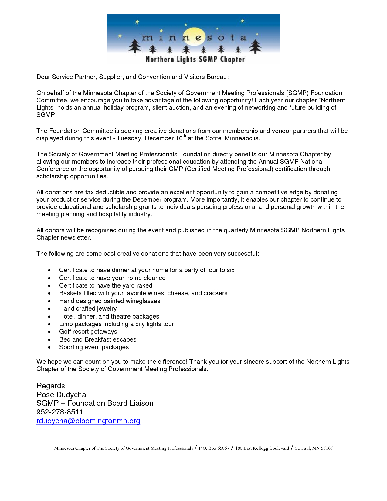 Personal Donation Letter Template - Letter Intent to Give Donation Highest Clarity
