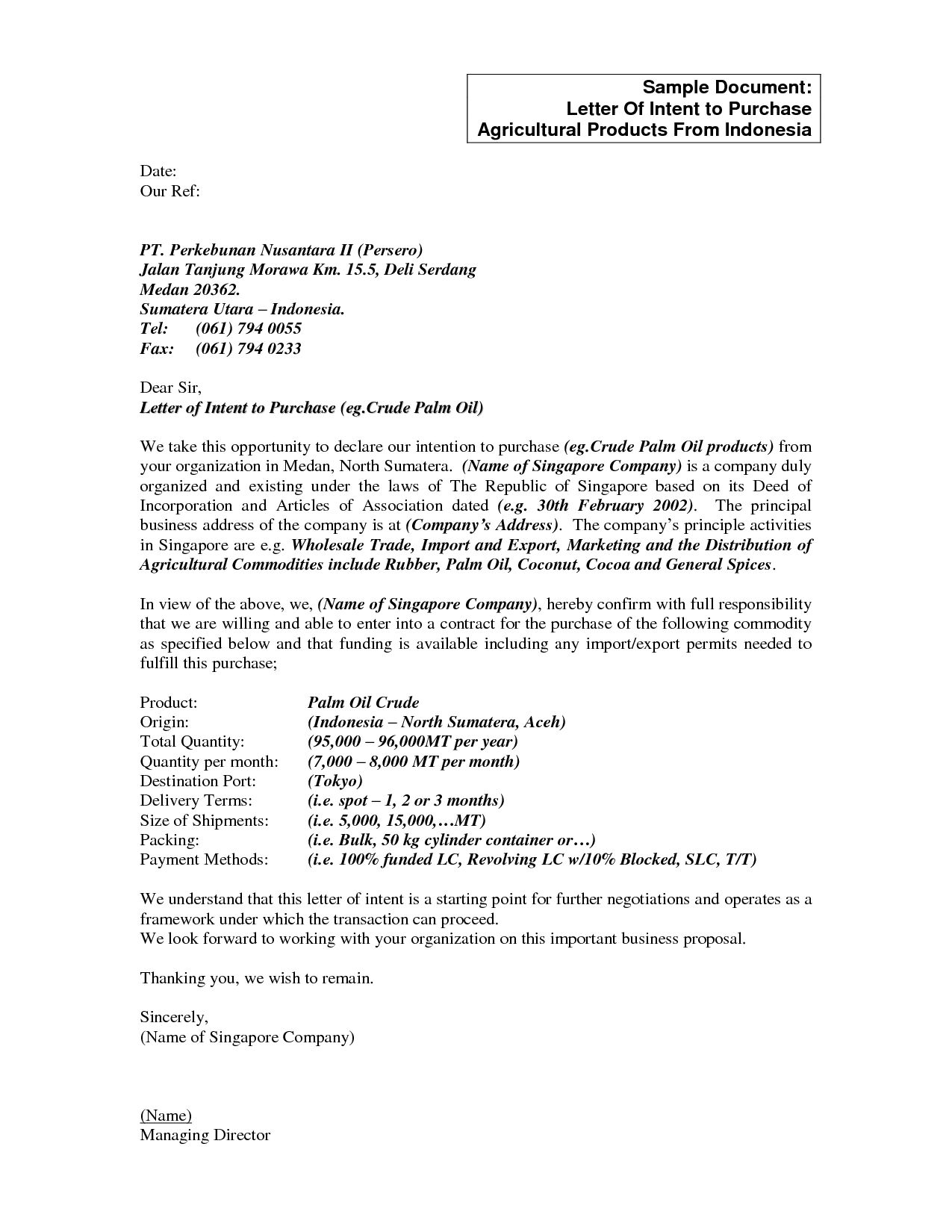 Letter Of Intent to Purchase Business Template Free - Letter Intent to Purchase Product S Highest Quality Best
