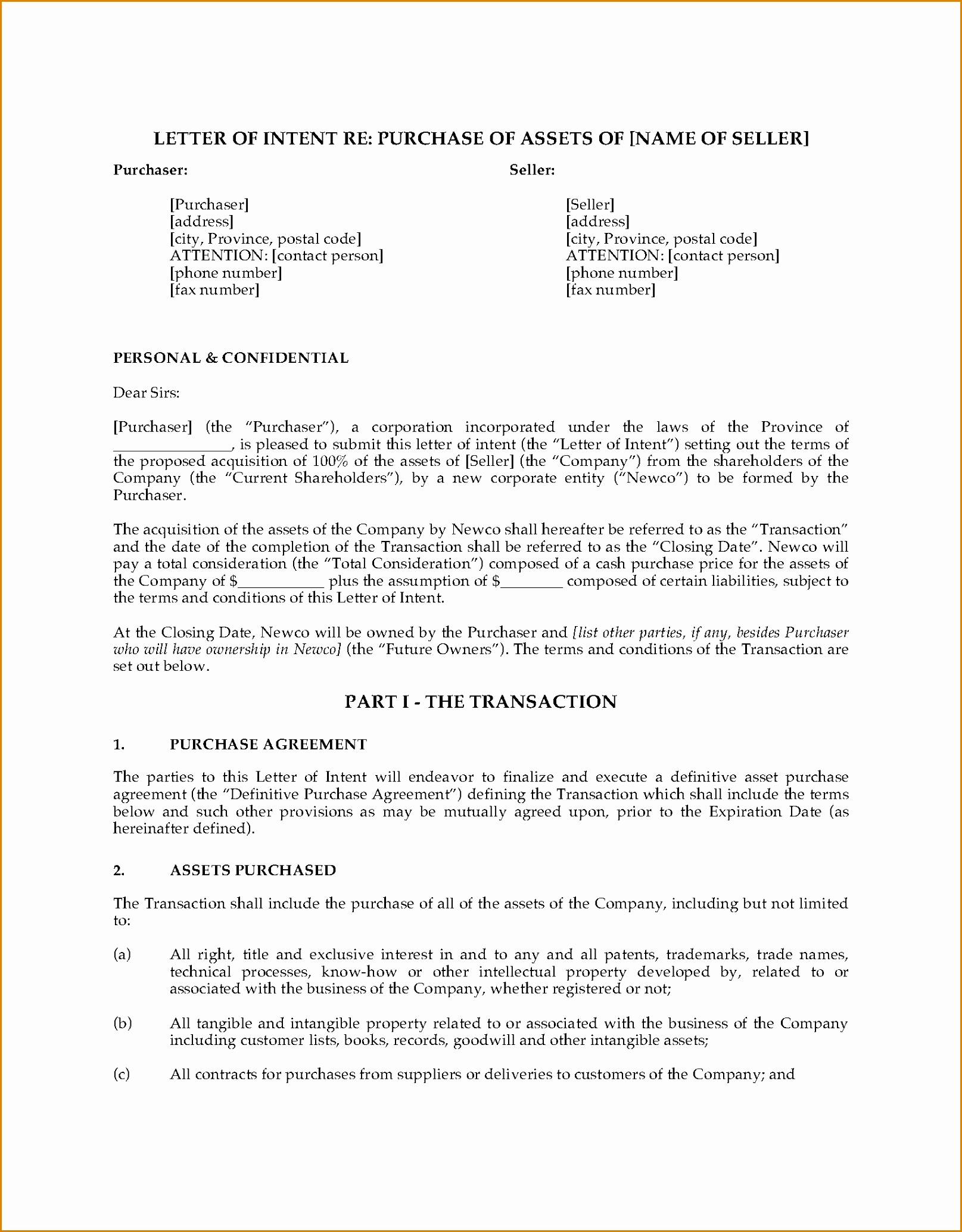 Letter Of Intent to Purchase Shares Template - Letter Intent to Purchase S Business Image Ideas for Sample
