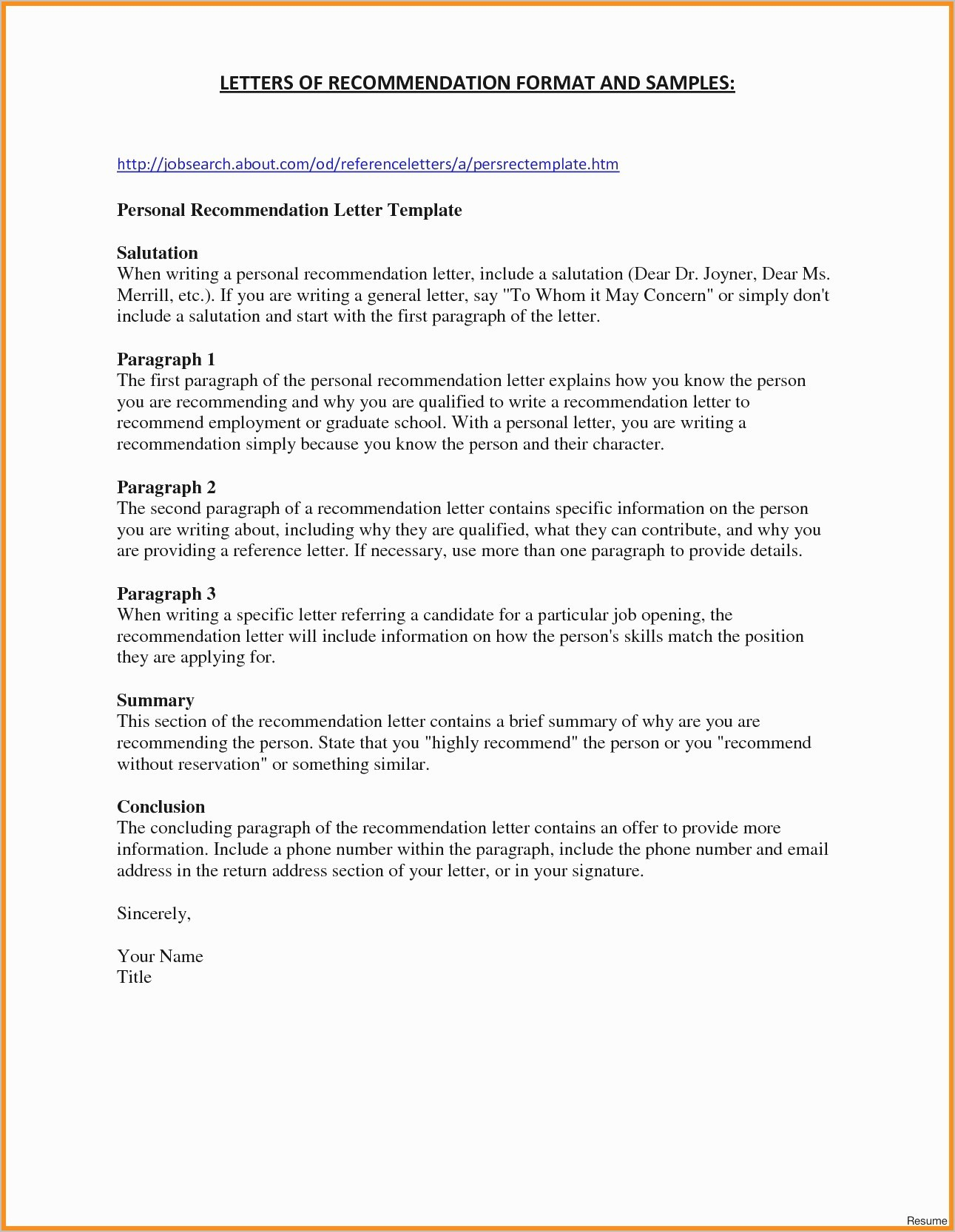 grad school letter of recommendation template collection letter