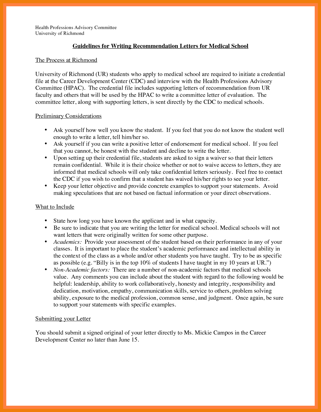 Medical School Letter Of Recommendation Template - Letter Re Mendation Medical School Requirements S High