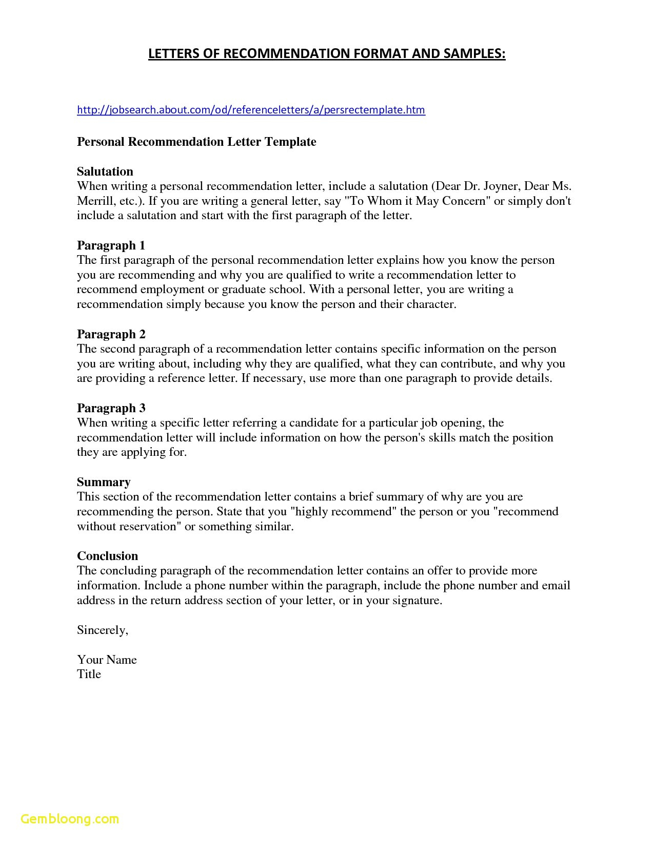 Phd Recommendation Letter Template - Letter Re Mendation Template for College Admission New College