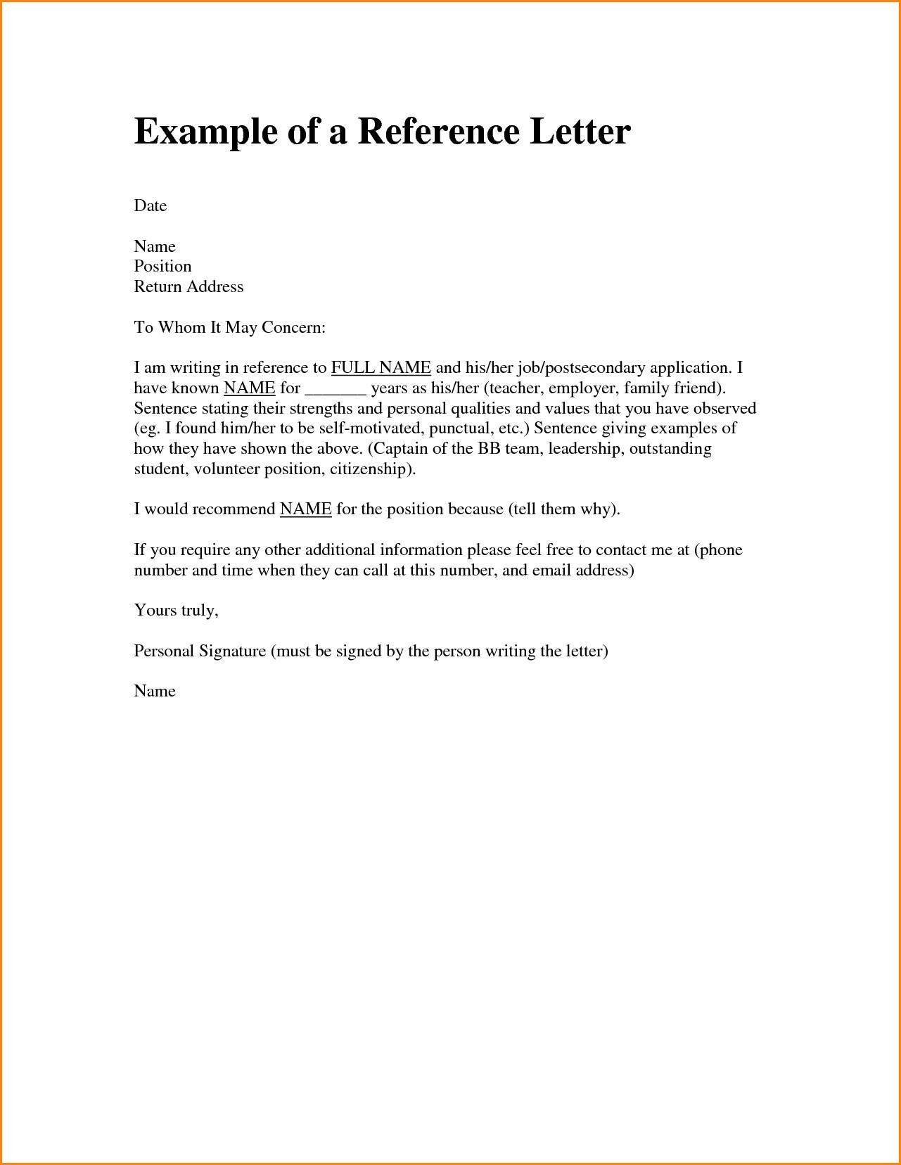 Immigration Reference Letter Template - Letter Re Mendation Template to whom It May Concern New Letter
