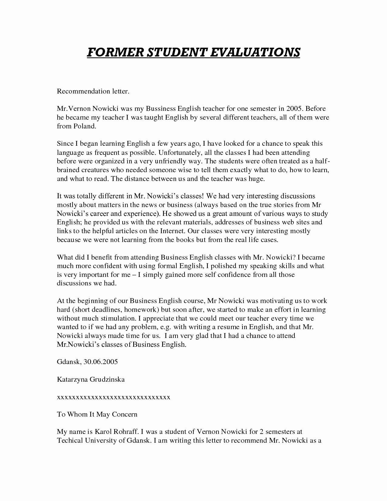 Teacher Reference Letter Template - Letter Reference Sample Teacher Valid English Teacher Reference