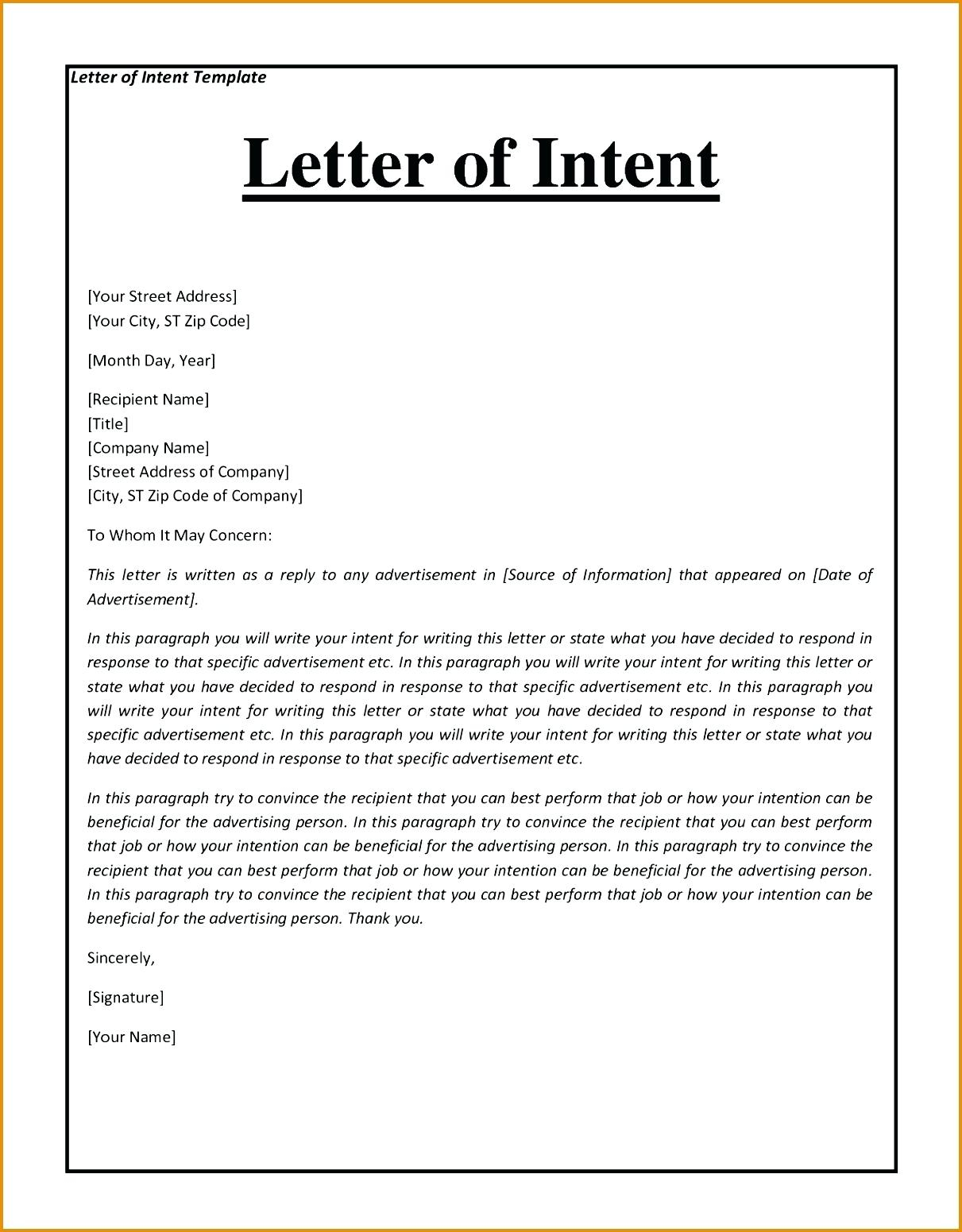 Non Binding Letter Of Intent Template - Letter T to Purchase Equipment High Resolution Template