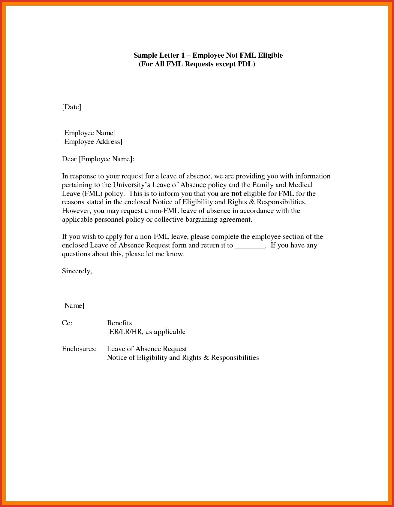 Personal Leave Of Absence Letter Template - Letter Template for Leave Request New Leave Absence Letter Template