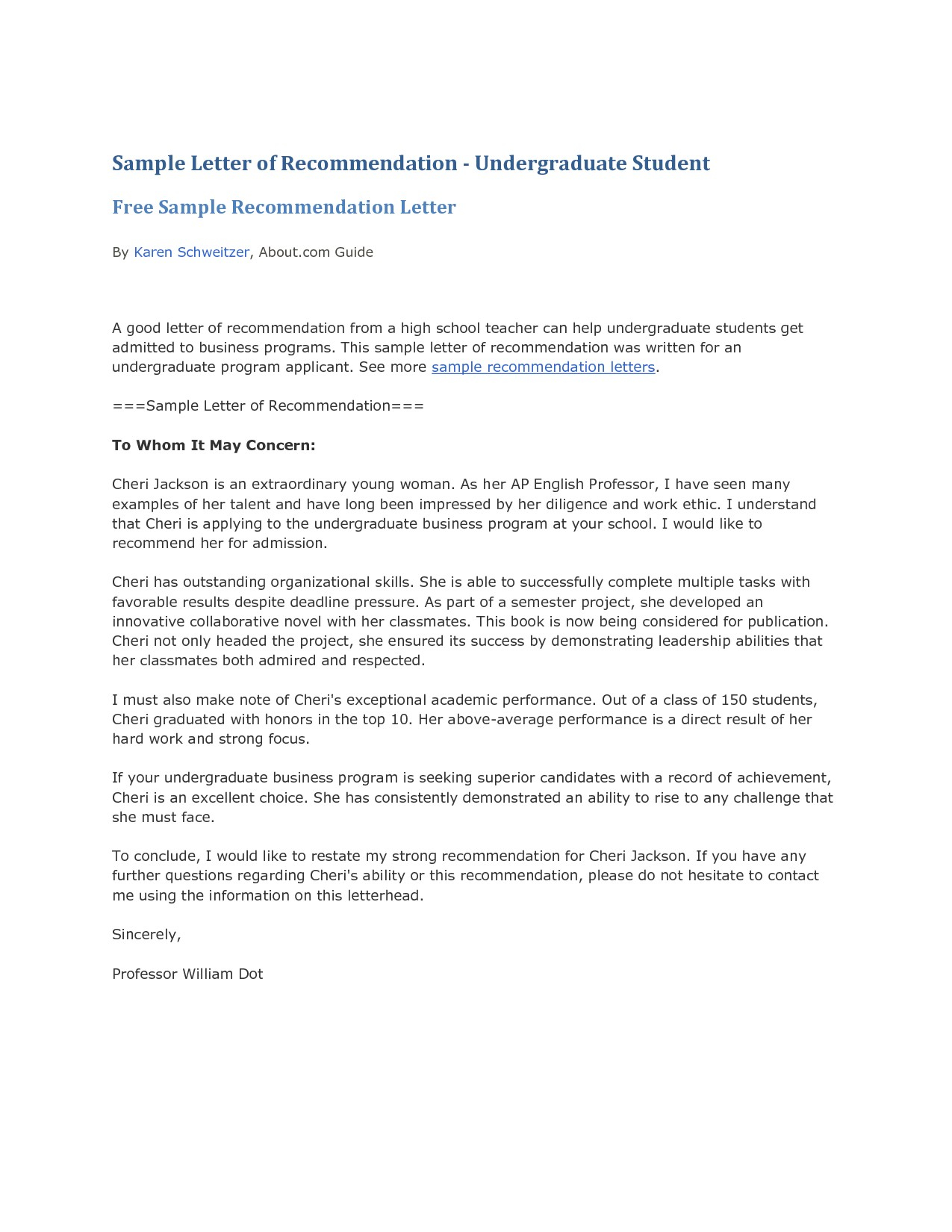 Letter of recommendation for college admission template examples letter of recommendation for college admission template letter template middle school new brilliant ideas reference spiritdancerdesigns Gallery