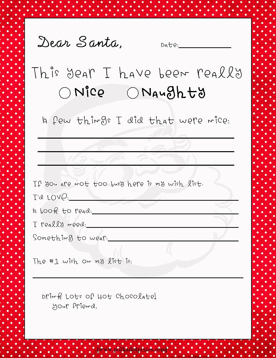 free printable letter to santa template example-Free Printable Letter to Santa Use as ELA writing prompt 18-f