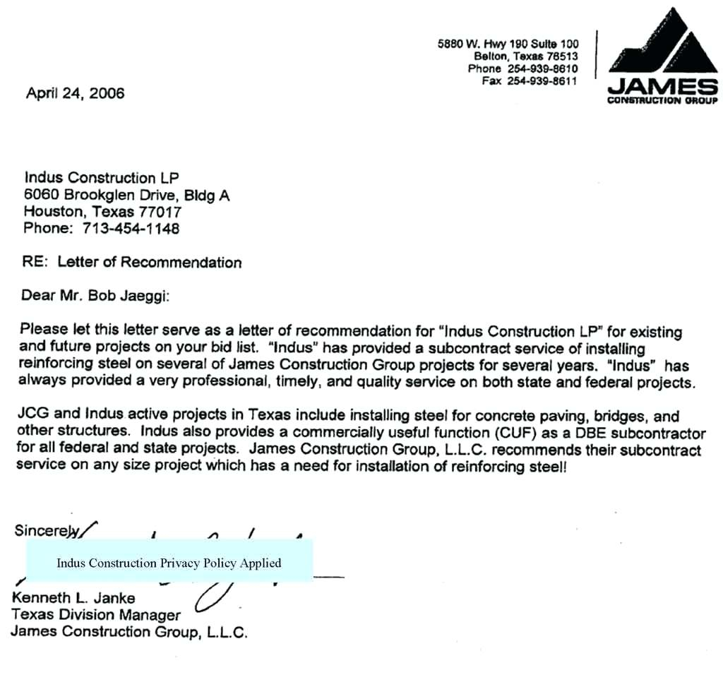 Letter Of Intent To Bid Template