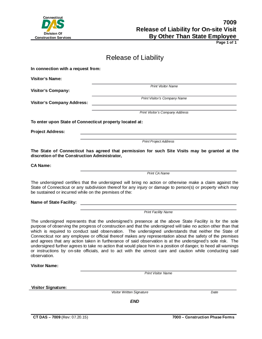 Letter Of Release Of Liability Template - Liability Waiver Template