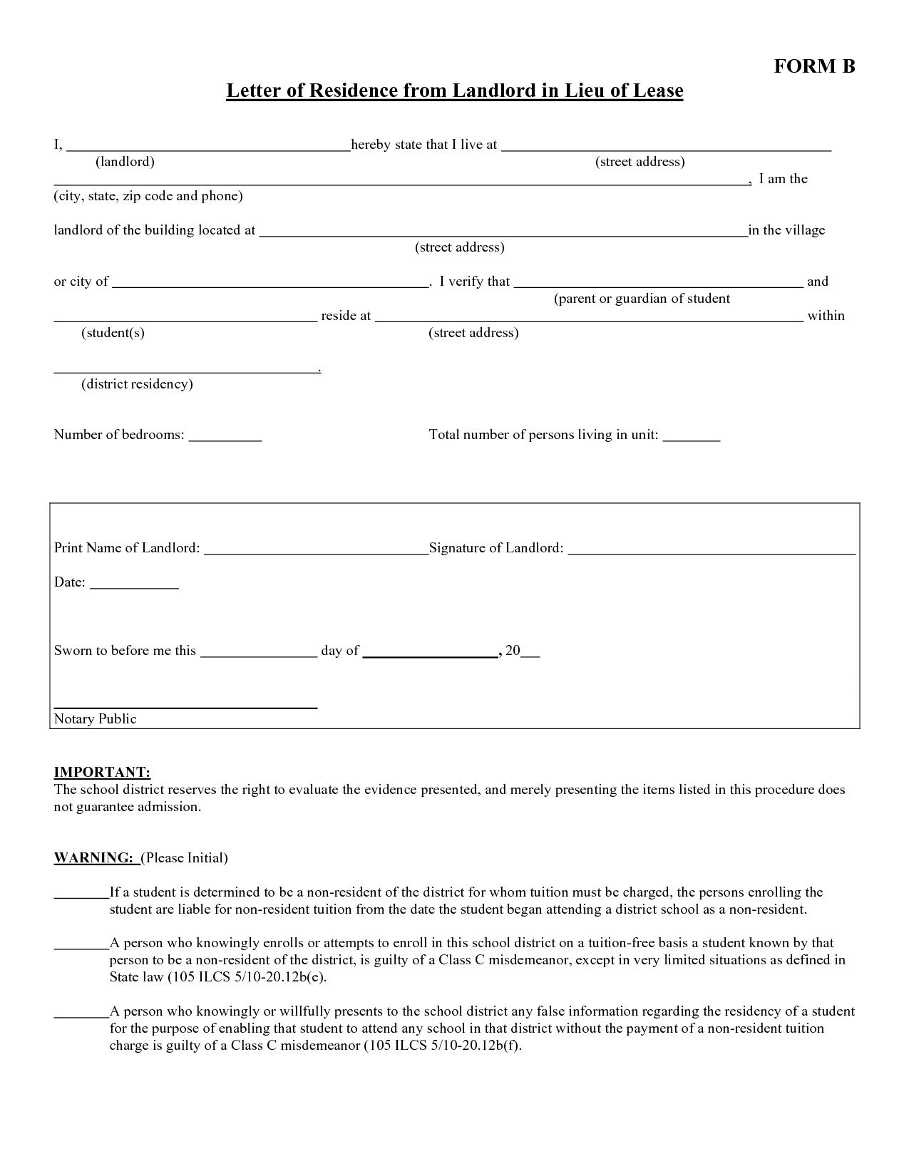 Free Proof Of Residency Letter Template - Lindatellingtonjones Resume formats and Template Frees