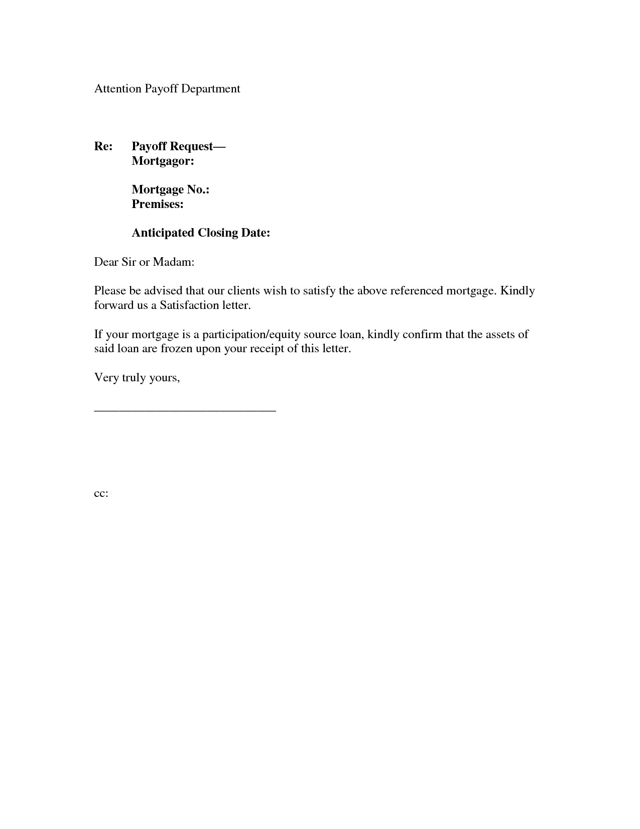 Mortgage Loan Payoff Letter Template - Loan Gift Letter Template New Request Letter for Bank Guarantee