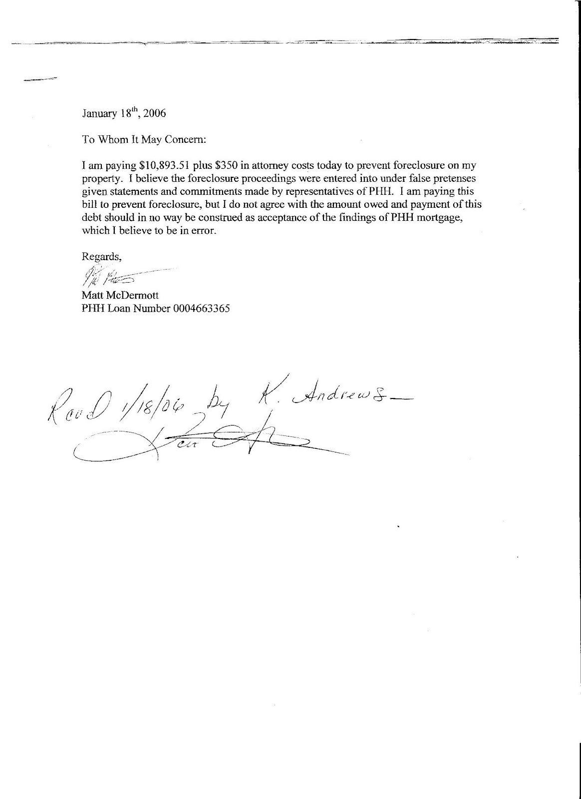 mortgage payment shock letter template loan payoff letter template