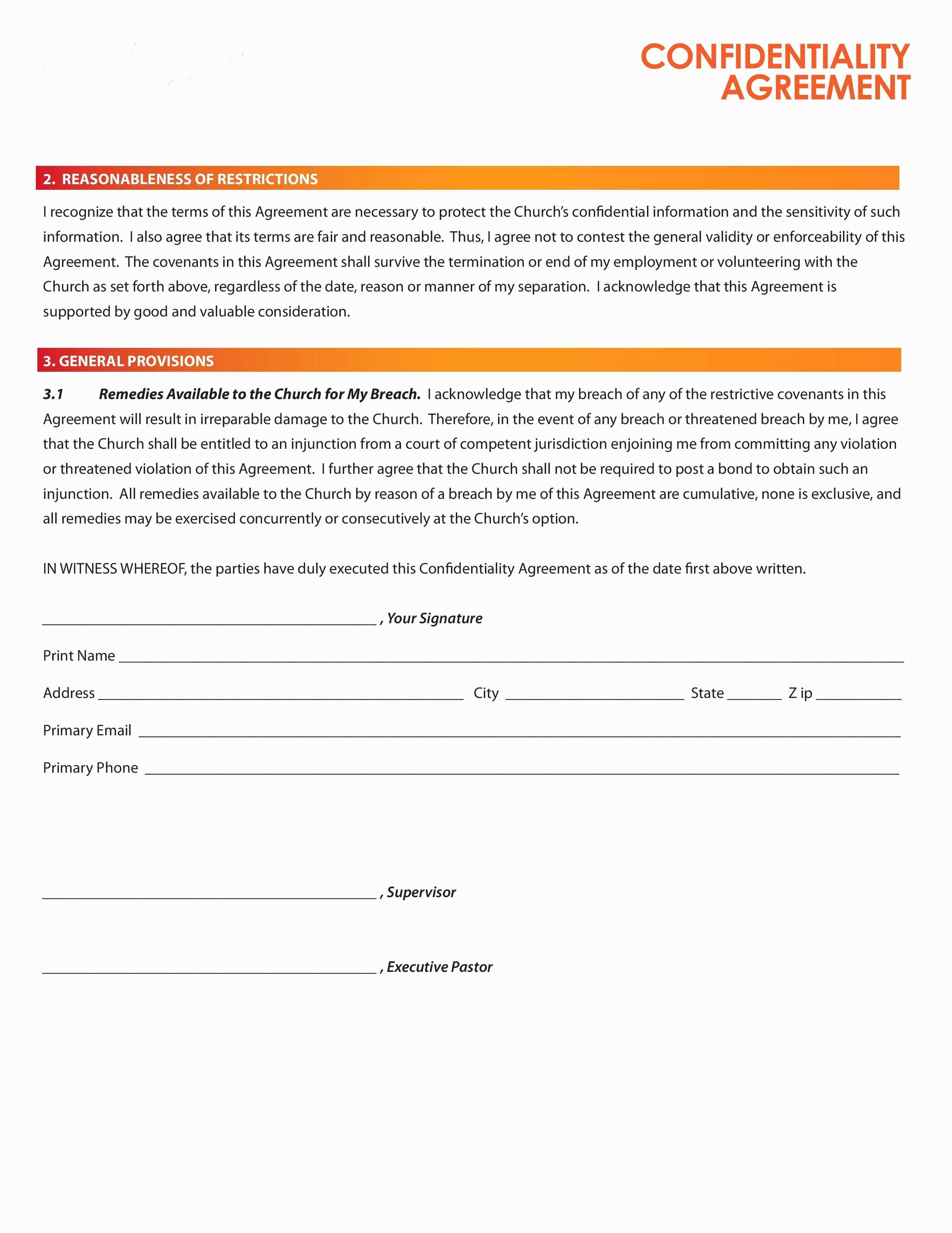 Letter Of Confidentiality and Nondisclosure Template - Lovely Financial Non Disclosure Agreement Template A Place for