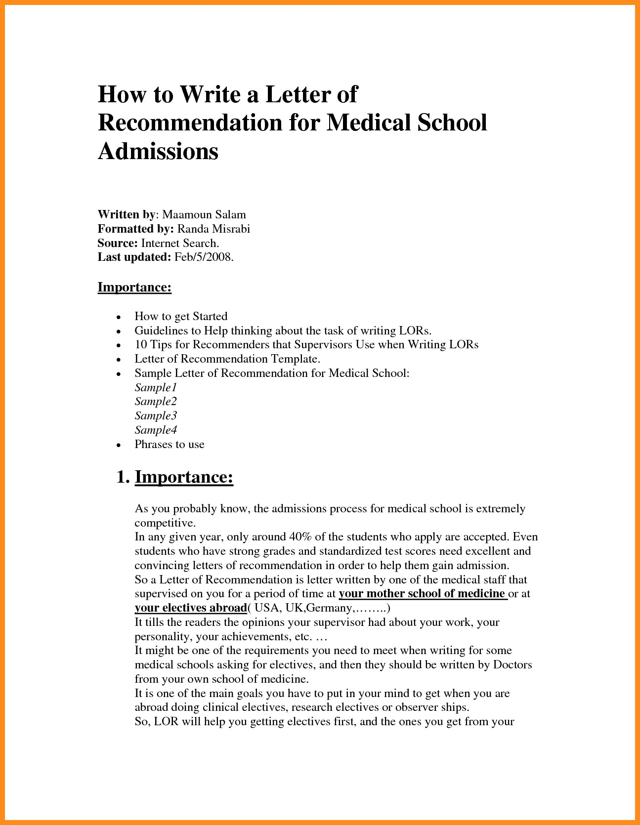 Medical School Letter Of Recommendation Template - Lovely Medical School Letter Re Mendation Template