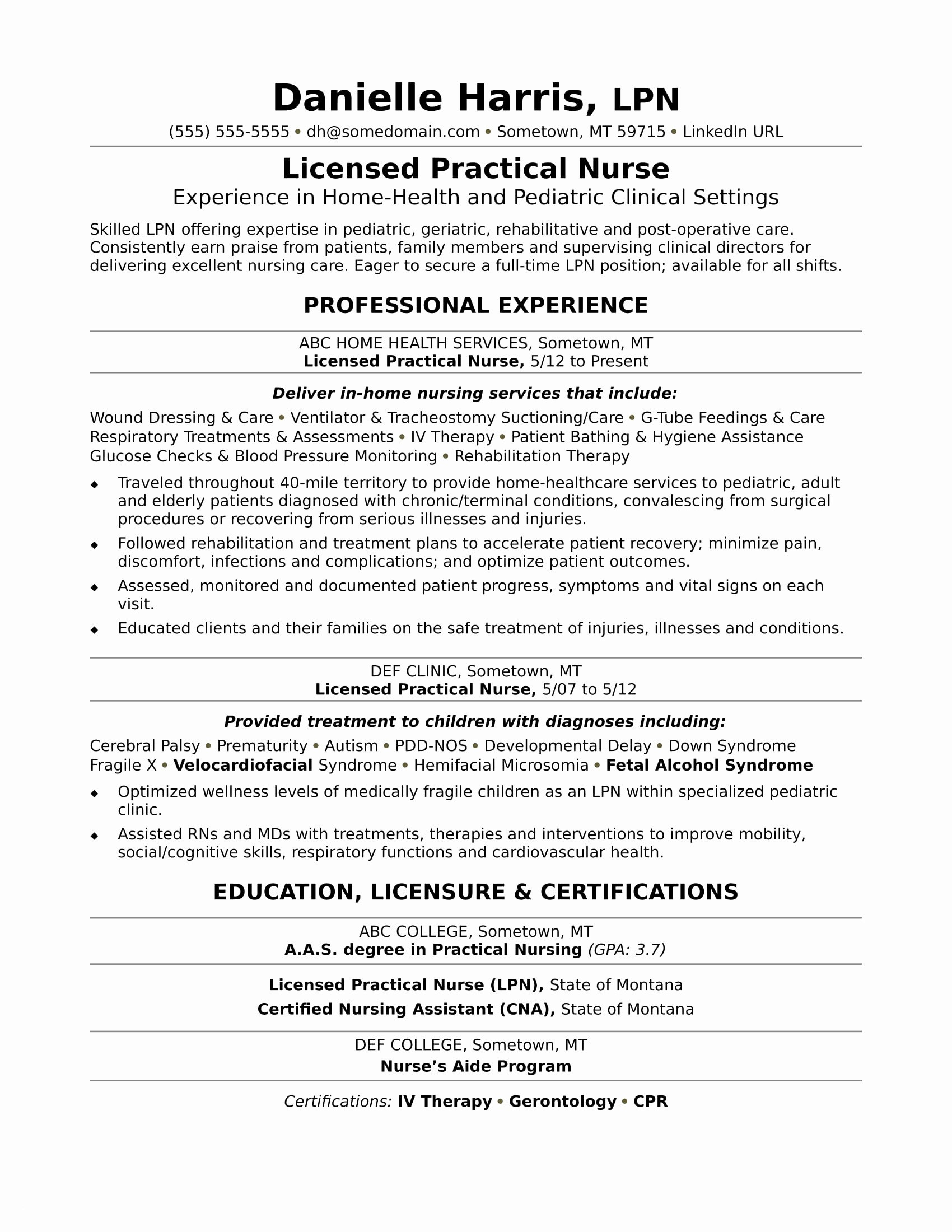 Nursing Resume Cover Letter Template Free - Lpn Resume Template Lovely Lpn Resume Template Free Reference Free