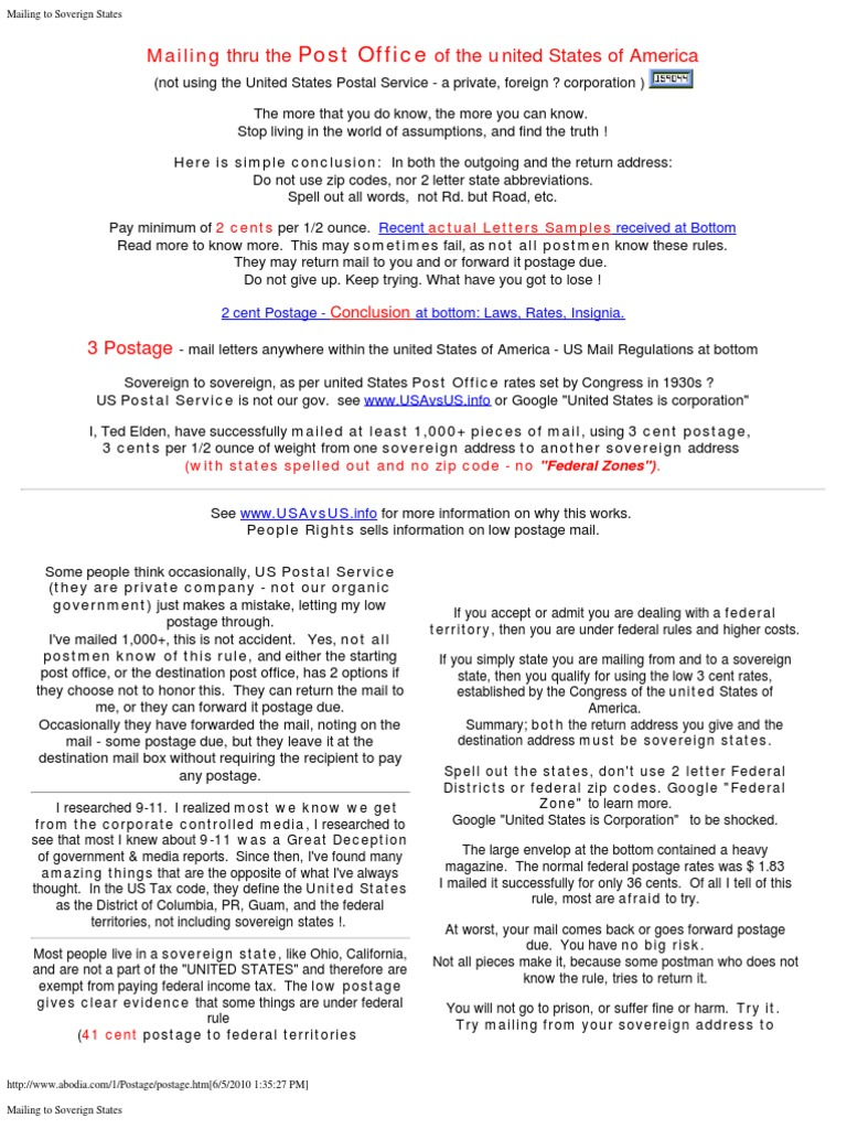 Reliance Letter Due Diligence Template - Mailingtosoverignstates United States Postal Service