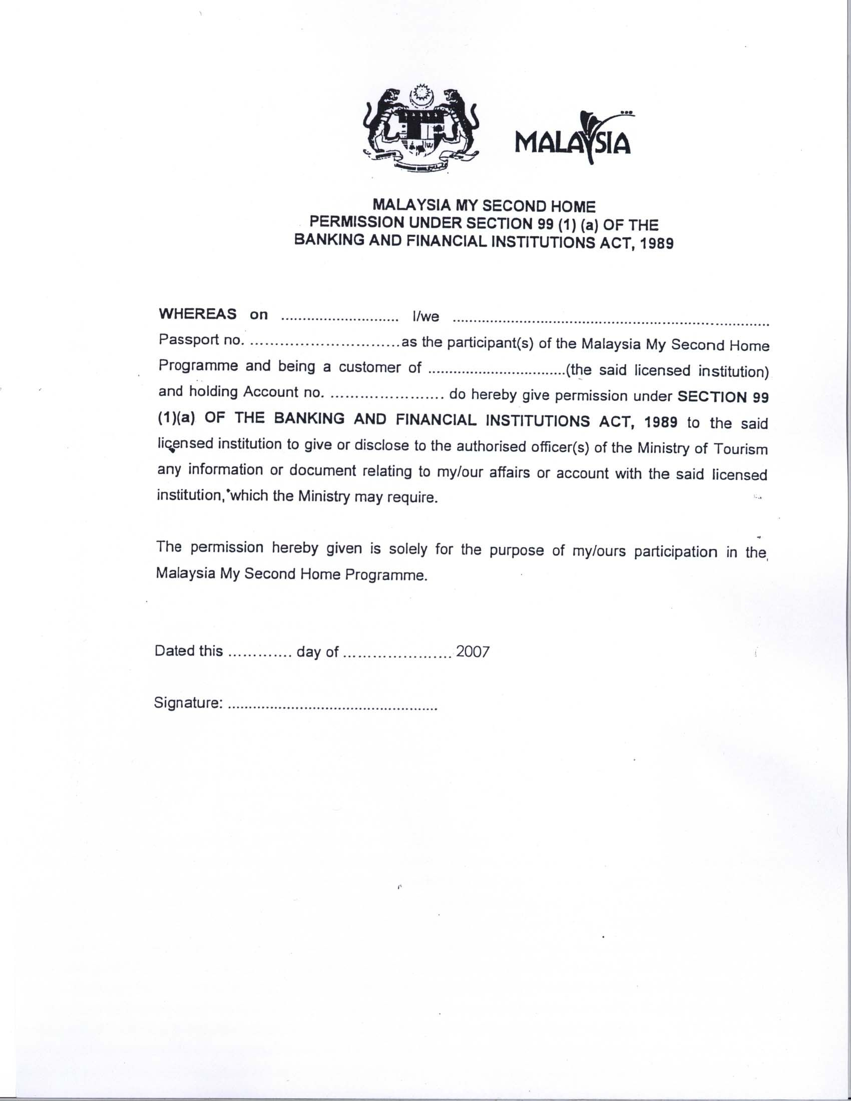 Letter Of Resignation Template Word 2007 - Malaysia Visa Application Letter Writing A Re Papervisa Request