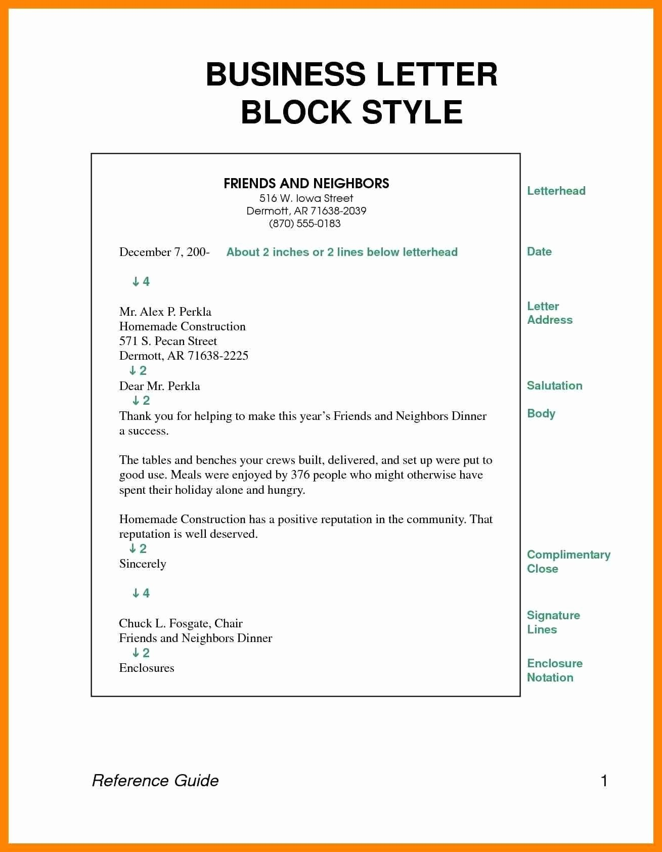 Block Style Business Letter Template - Margins for Letter format New format Business Letter Spacing