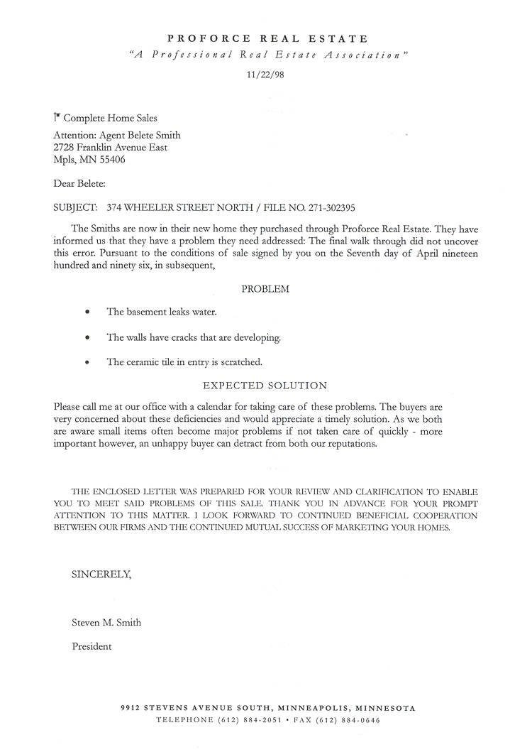 Commercial Real Estate Prospecting Letter Template - Mercial Real Estate Prospecting Letter