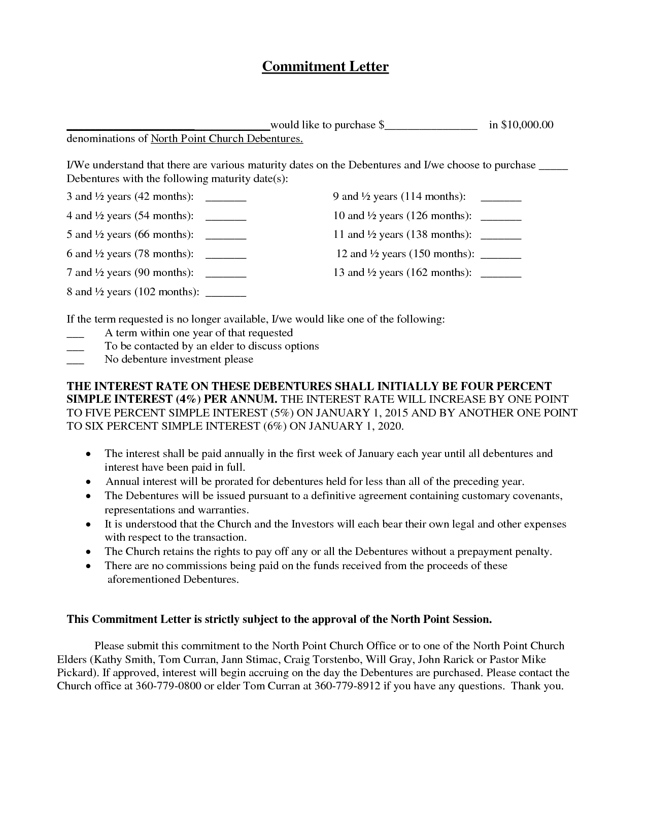 Mortgage Commitment Letter Template - Mitment form Template