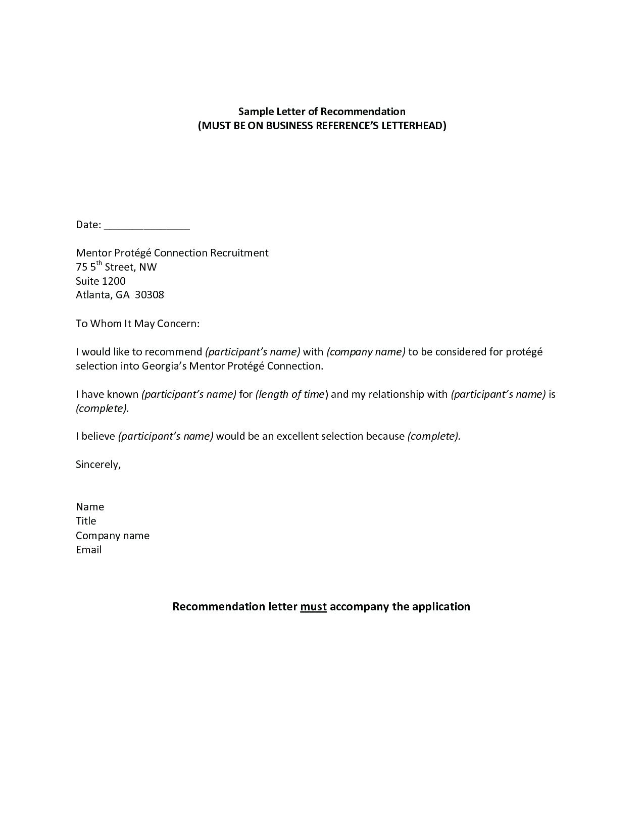 Mortgage Reference Letter From Employer Template Samples | Letter ...
