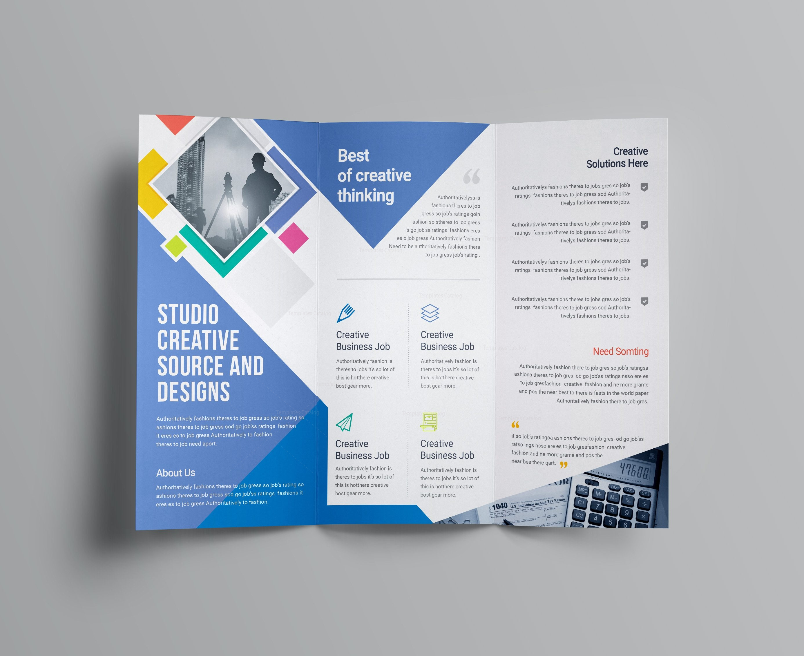 letter size tri fold brochure template collection letter cover