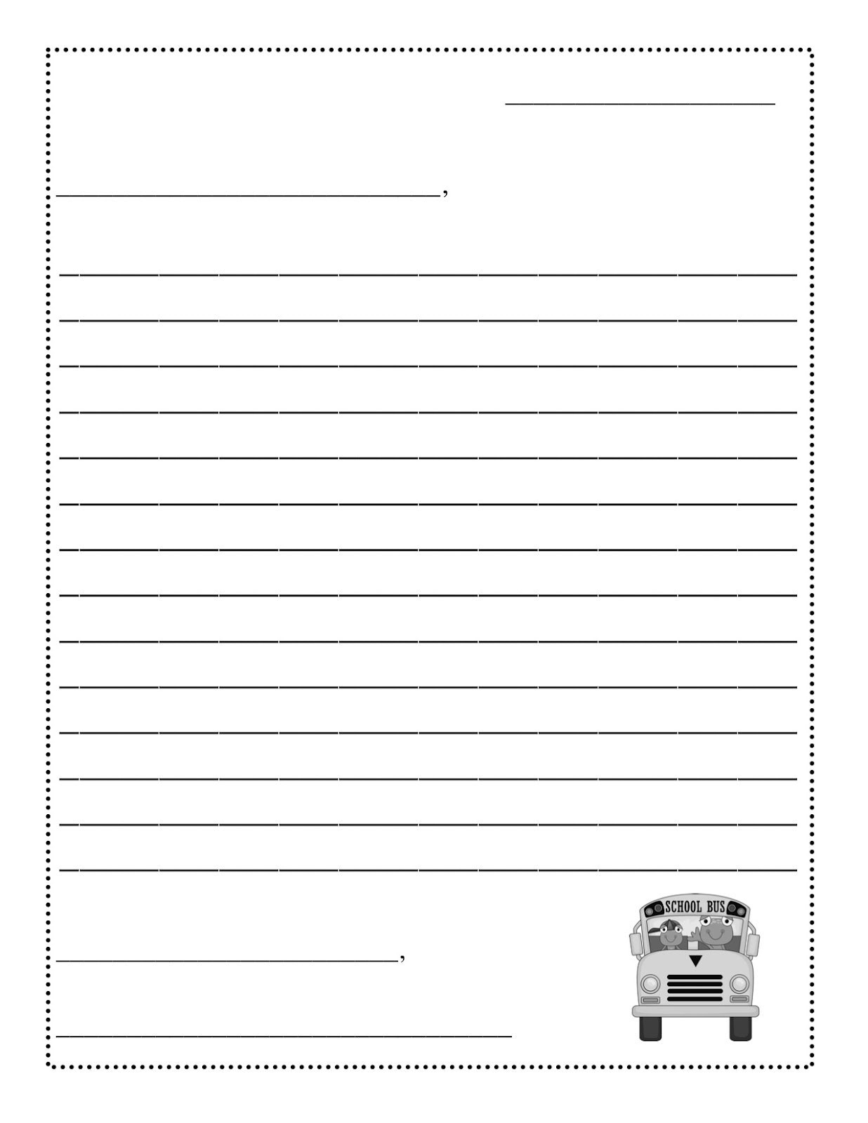 Letter to Santa Template Free Printable - New Free Printable Resume Template