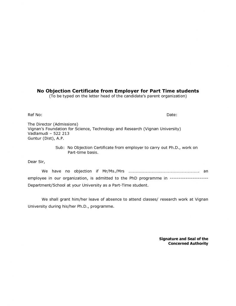 Letter Of Instruction Template Stock Transfer - Noc Letter format for Transferring Property New Noc No Objection