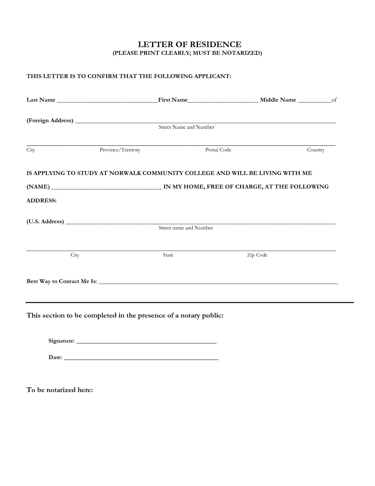 Notary Letter Template Free - Notarized Certificate Employment Sample New Example Notarized