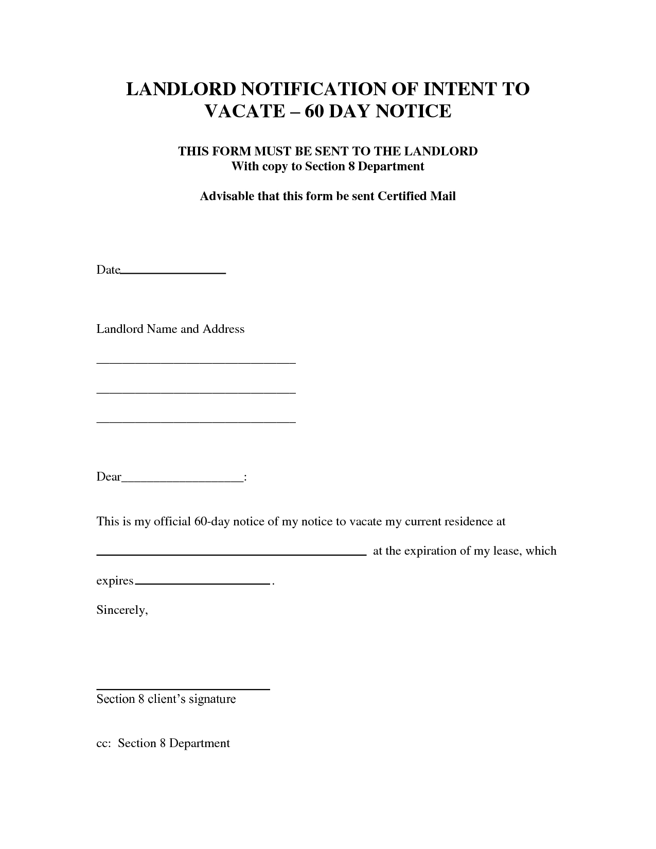 30 Day Eviction Letter Template - Notice Intent to Evict Letter Day Eviction Dcbuscharter Co Vacate