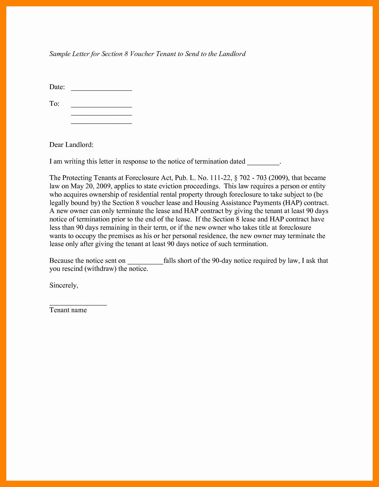 Landlord Notice Letter to Tenant Template - Notice Letter to Landlord Template New Letter Template for Giving