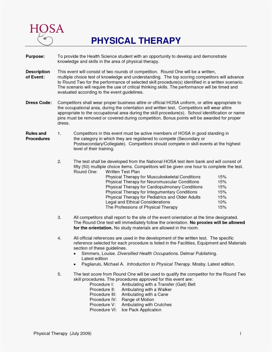 Physical therapy Cover Letter Template - Occupational therapy assistant Resume Template Tech Resume Templates
