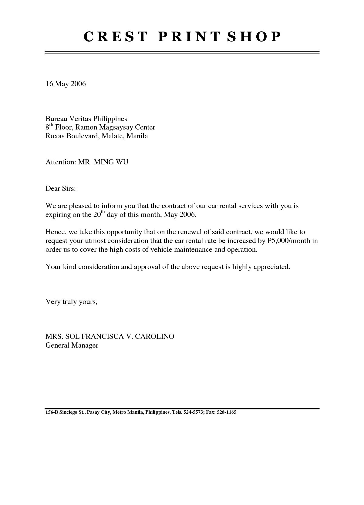 nonrenewal of lease letter template samples