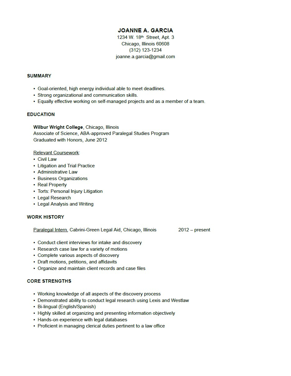 paralegal cover letter template