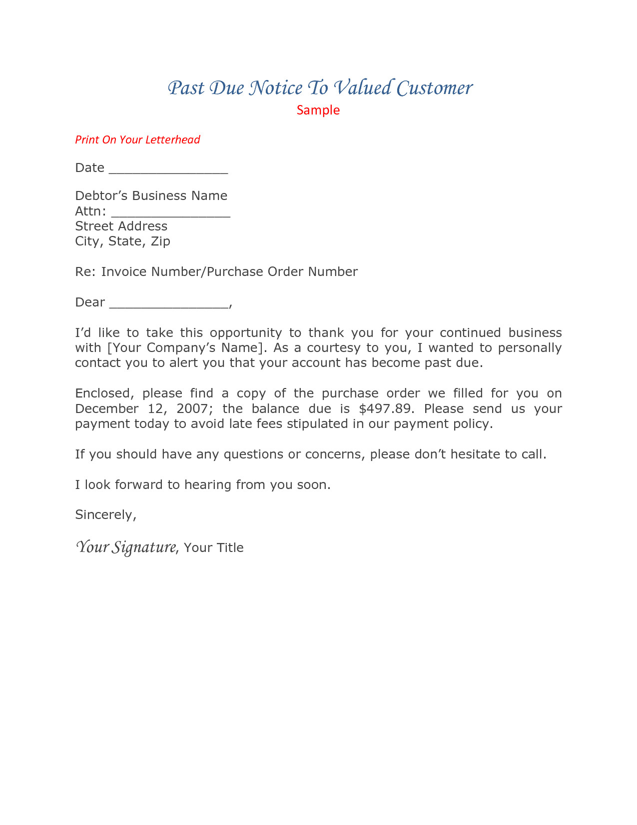 past due letter template past due rent letter template samples letter cover templates 13756
