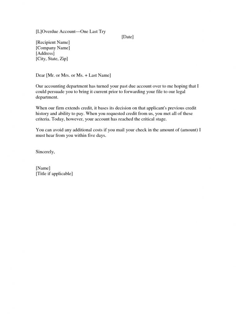 Past Due Invoice Letter Template - Past Due Letter Template Best Past Due Letter Template Best S