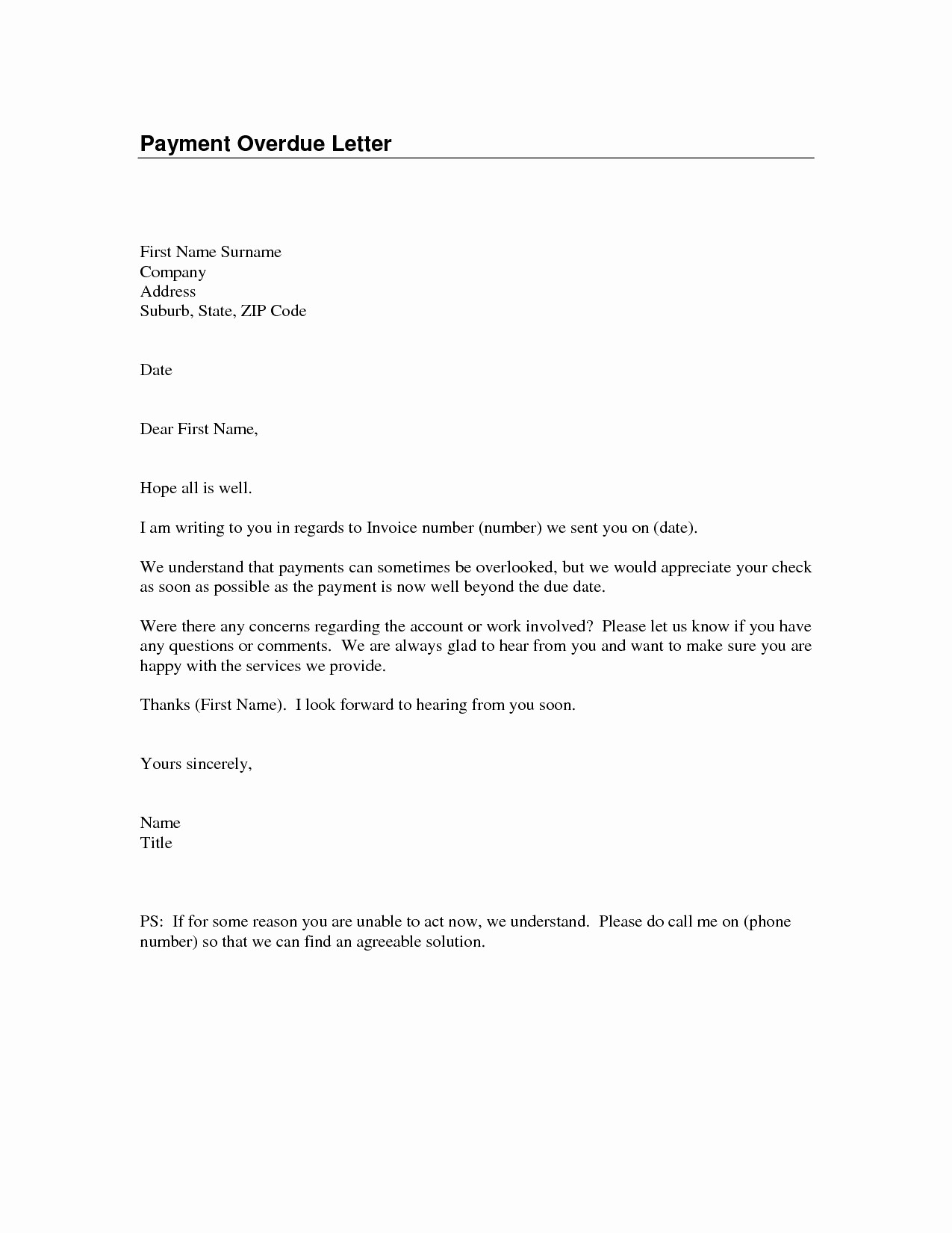 Past Due Invoice Letter Template - Past Due Letter Template Fresh Past Due Invoice Letter to Customer