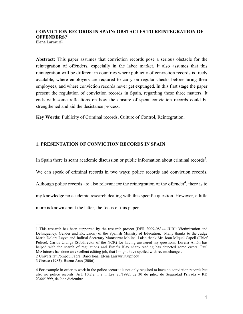 Criminal Record Disclosure Letter Template - Pdf In the Shadow Of A Criminal Record